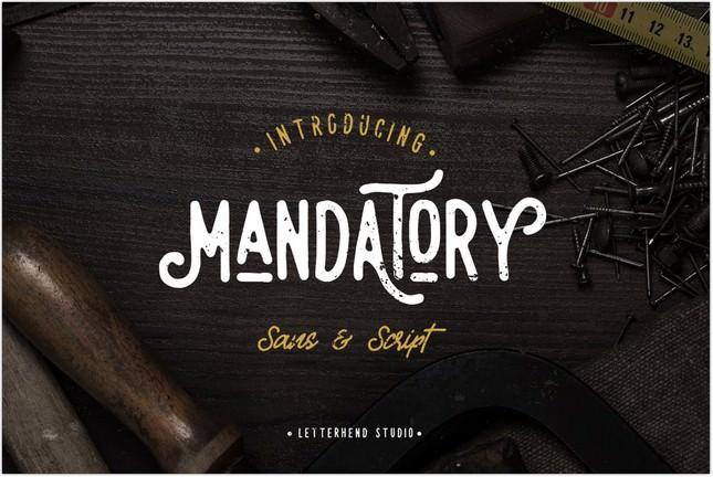 Mandatory - Vintage Poster Font