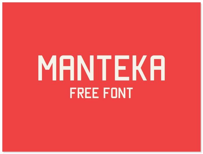 Manteka Font Free