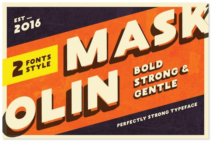 Maskoolin Free Bold Font - 2 Styles