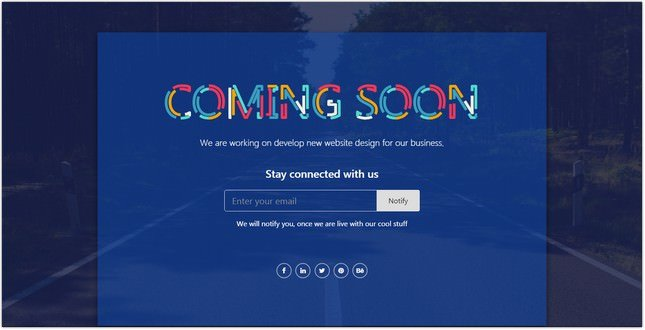 Max Coming Soon Page - Bootstrap 4 Responsive HTML Specialty Page