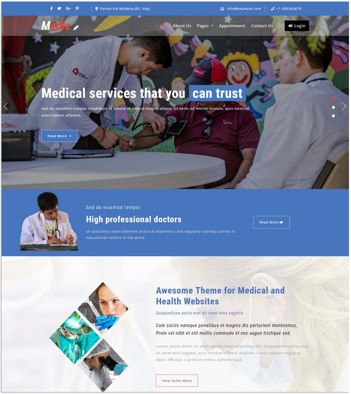 Medic Medical Responsive Website Template