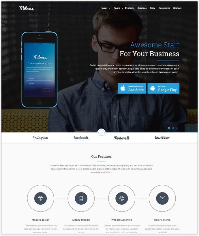 Showcase Mobile App Website Template