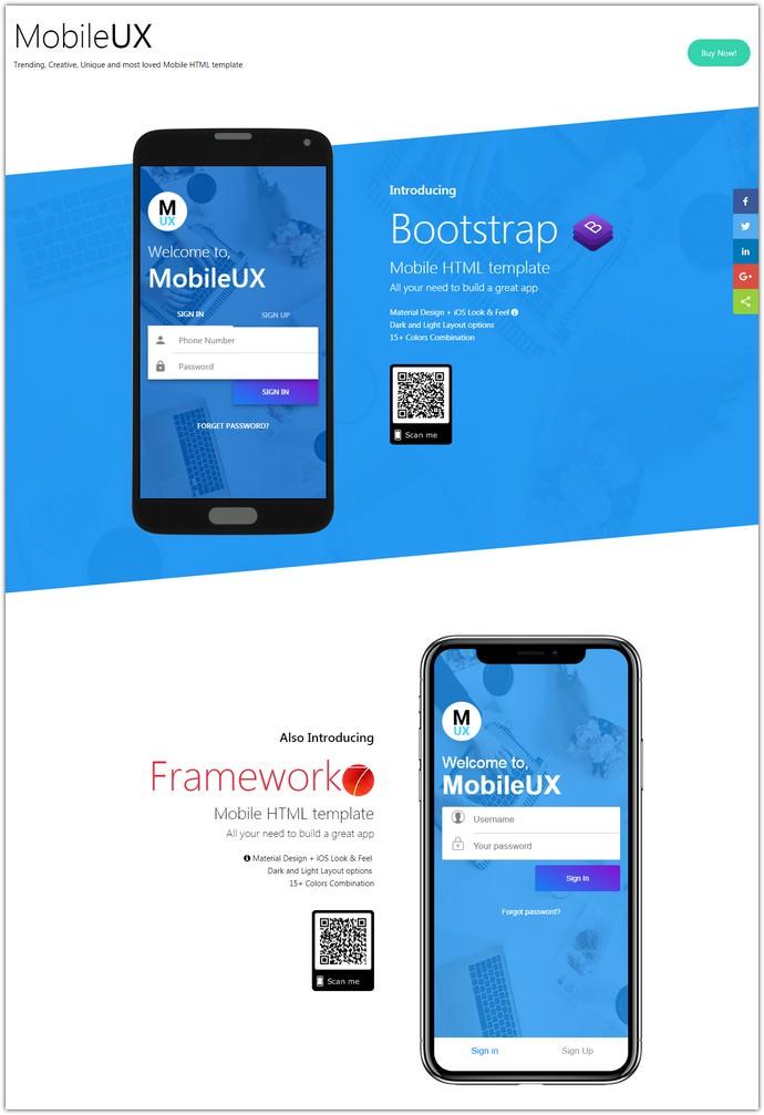 Multipurpose HTML Mobile App Template