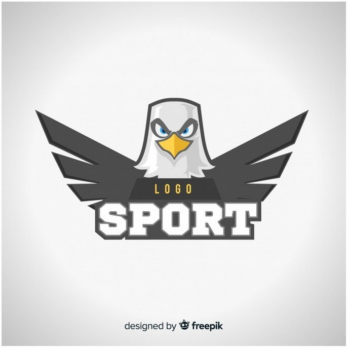 Modern Sport Logo Template With Eagle