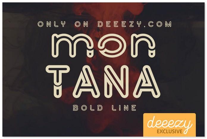 Montana Bold Outline Font