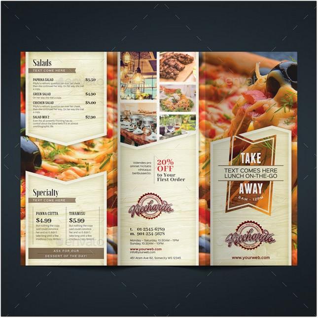Restaurant Tri fold Brochure