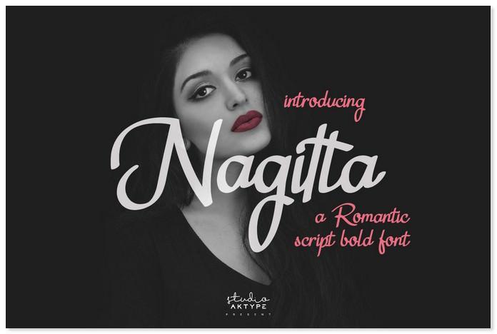 Nagitta a Romantic Script Bold Font