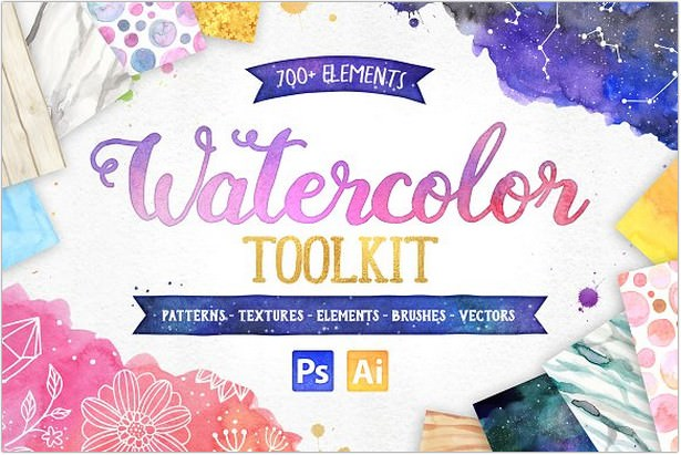 Watercolor Texture Toolkit