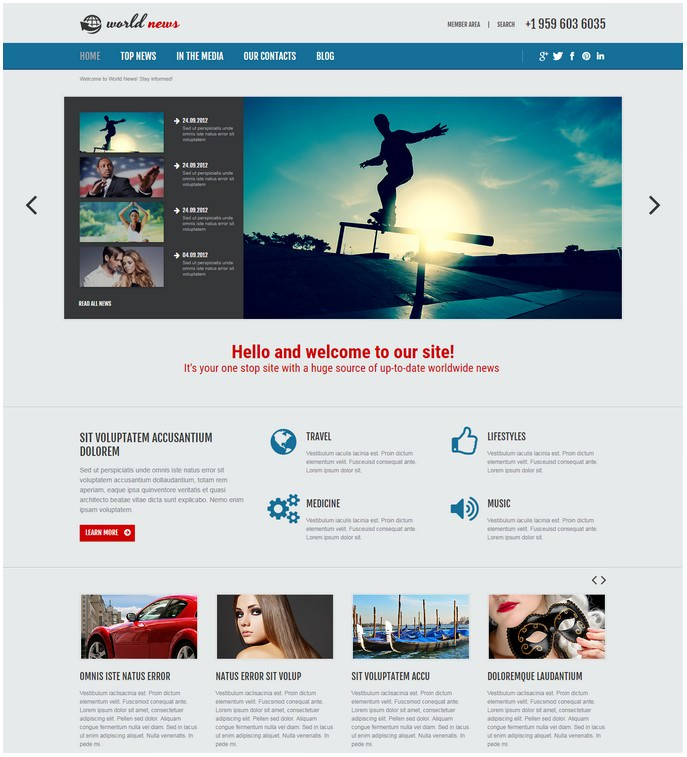 News Portal Media Responsive Joomla Template