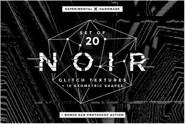 Noir Glitch Texture