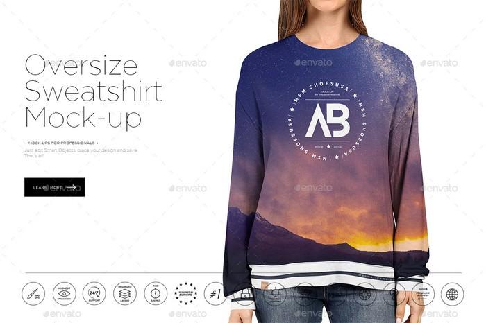 Oversize Sweatshirt Mock-up