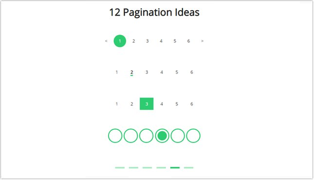 Pagination 12 Ideas