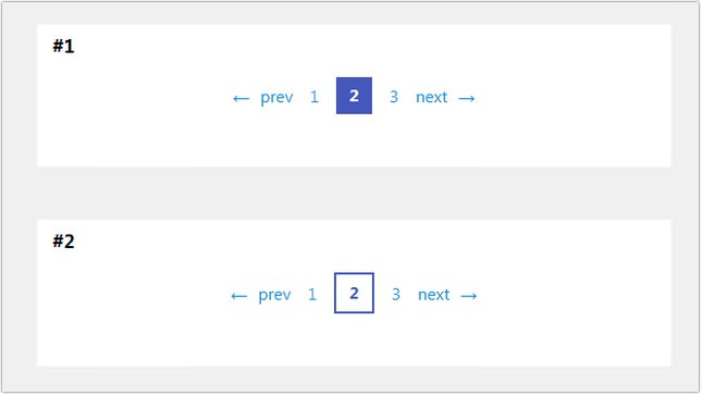 Pagination with CSS Custom Properties