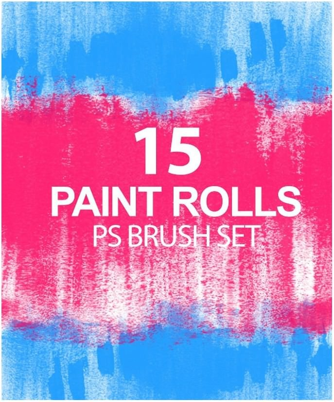 Paint Rolls Photoshop Brush Set