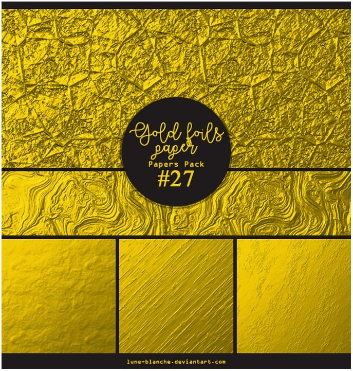 Papers pack #27 - Gold foils papers