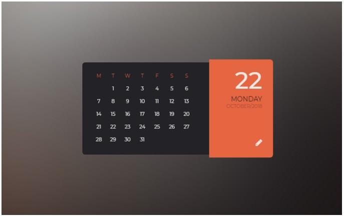 Parallax flipping calendar
