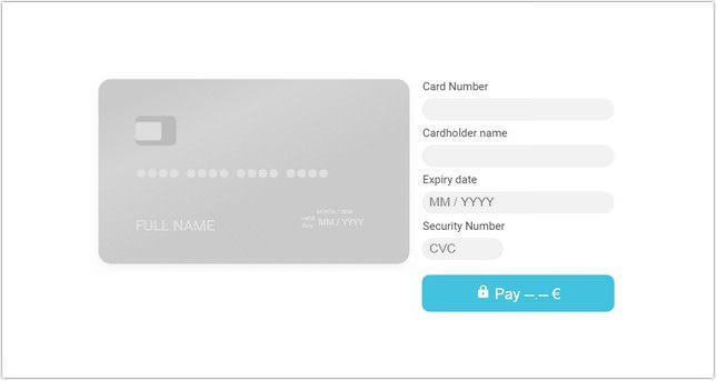 Payment card checkout
