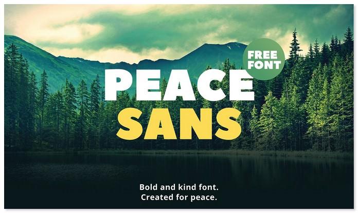 Peace Sans Free Font