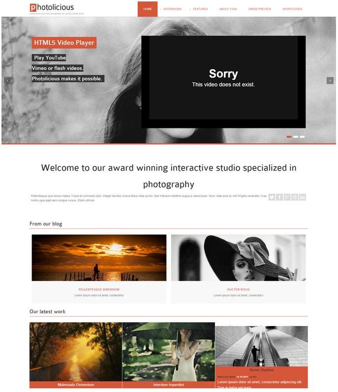 Photolicious Joomla Photo Studio Template