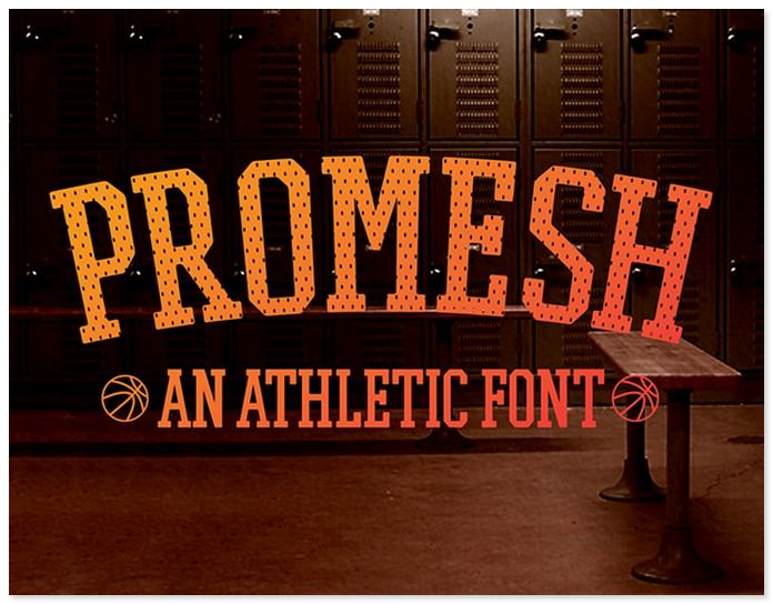 Promesh A Free Athletic Font
