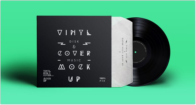 Vinyl Cover Record Mock Up