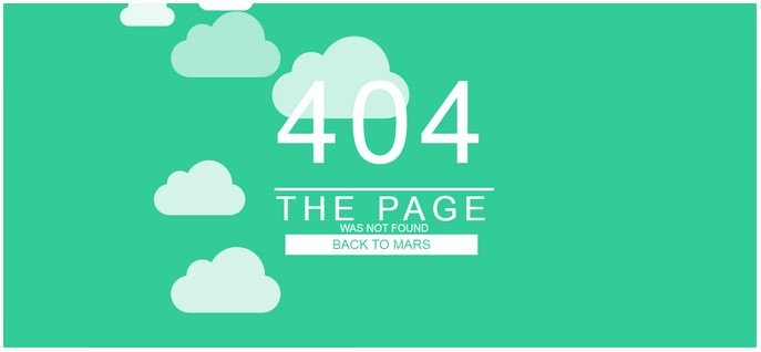 Pure CSS 404 Error Page