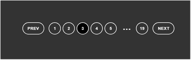 Pure CSS pagination