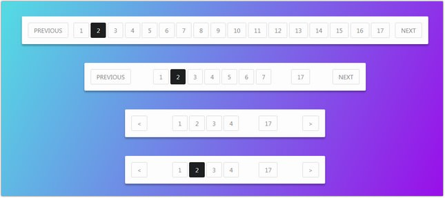 Pure CSS3 Responsive Pagination