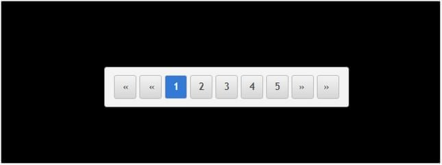 Pure Css3 Animated Pagination design