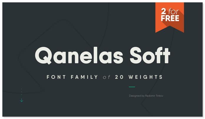 Qanelas Soft Bold Typeface