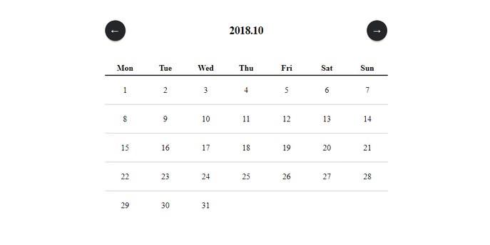 React Simple Calendar