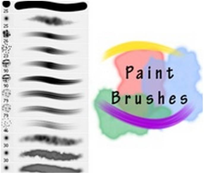 Realistic Paint Brushes