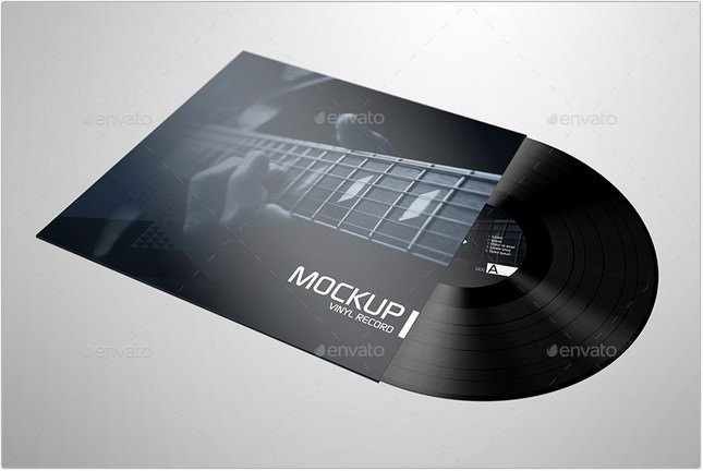 Realistic Vinyl Record Mockup