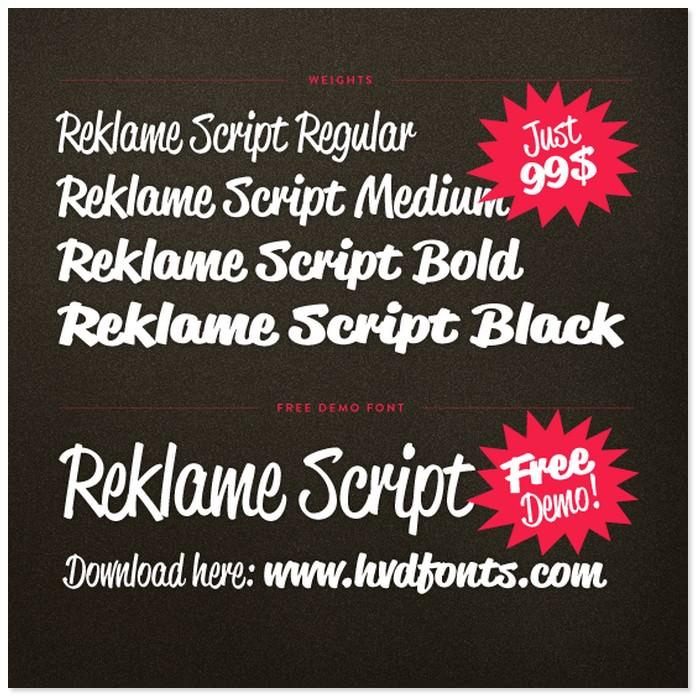 Reklame Bold Script Font