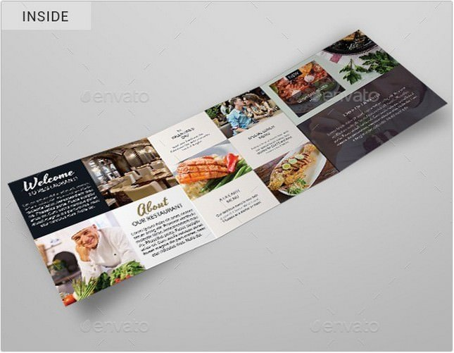 Restaurant Tri-Fold Brochure # 3