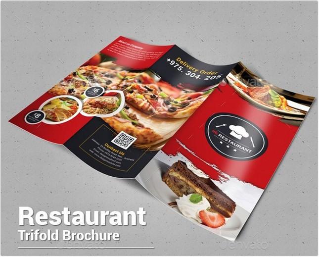 Restaurant Trifold Brochure template