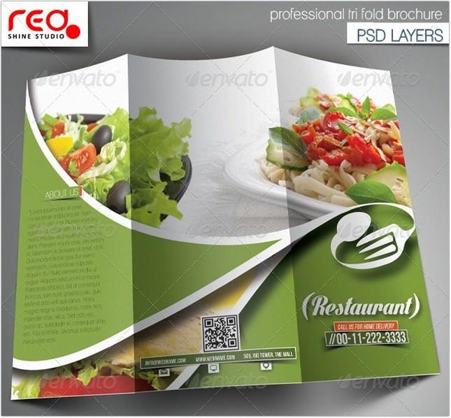 Restaurant Trifold Brochure