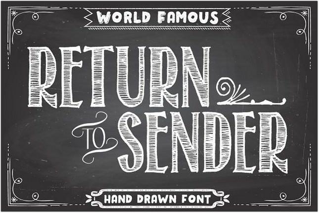 Return To Sender Font