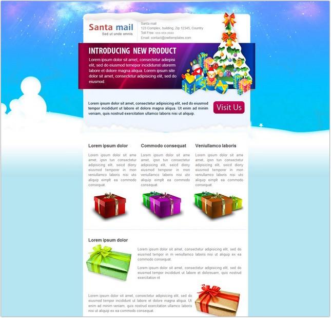 SantaMail Email Template