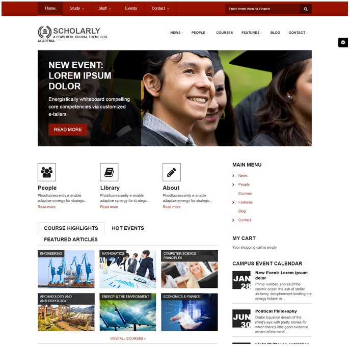 Scholarly Great Drupal 7 Theme