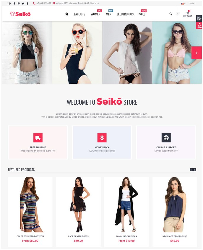 Seiko - Shopify Theme