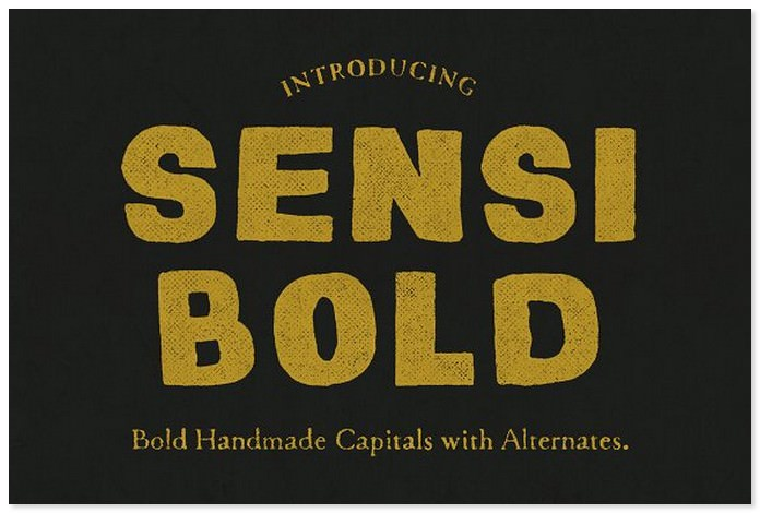 Sensi Bold Handmade