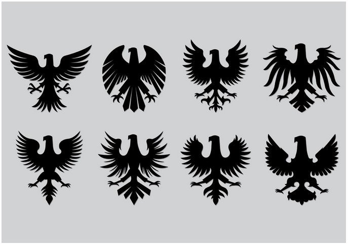Set Of Polish Eagle Icons