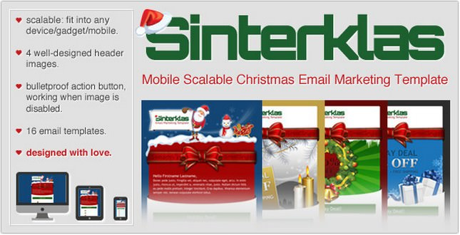 Sinterklas Christmas Mobile Scalable HTML Email