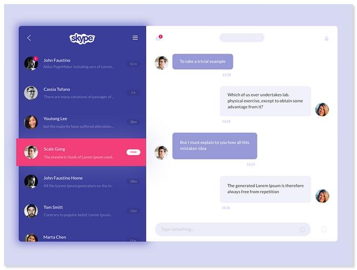 Skype Redesign Ui