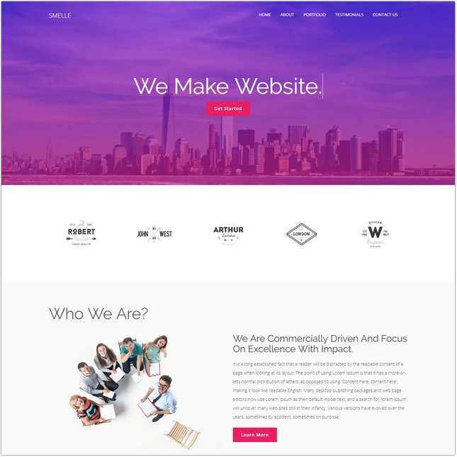 Creative One Page Bootstrap Template