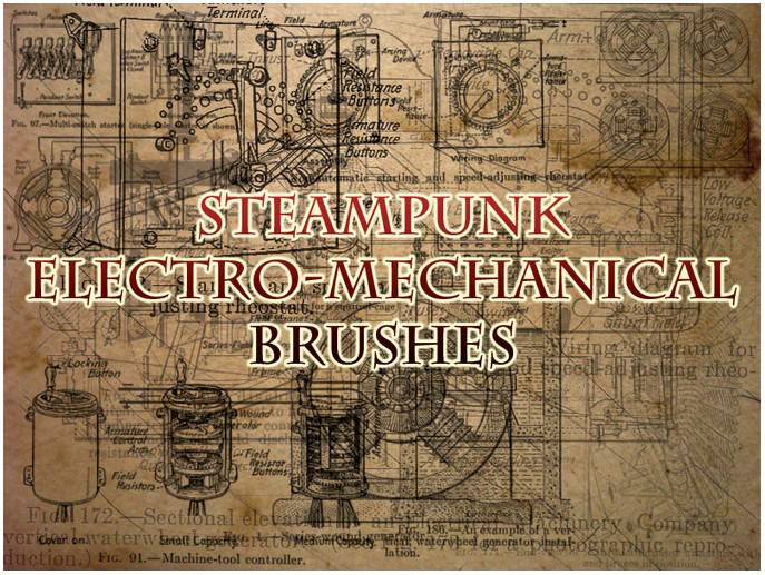 Steampunk Machine Brushes