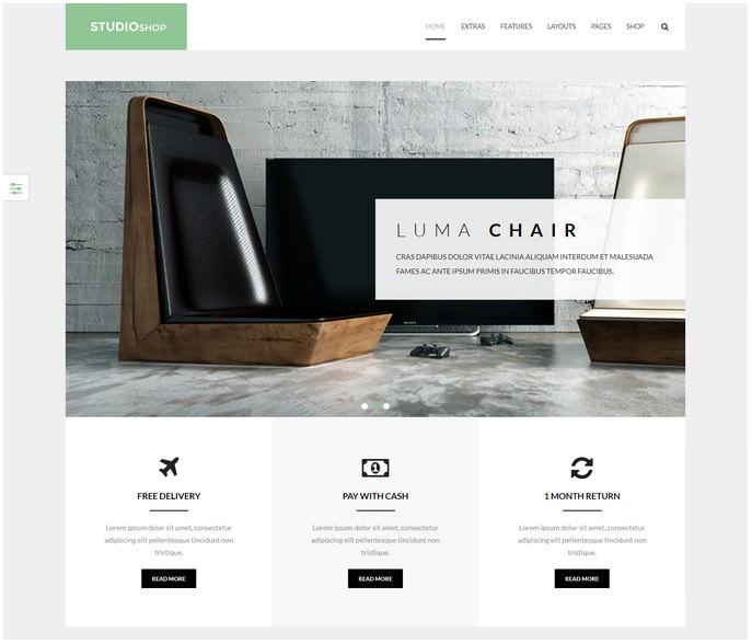 Studioshop Furniture Gallery Shop Template