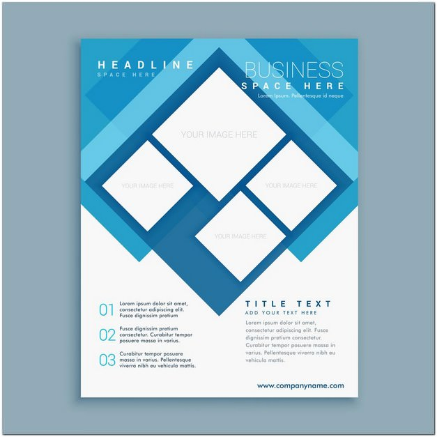 Stylish Blue Brochure Flyer Design