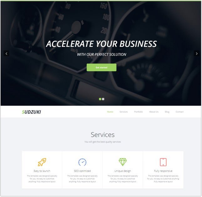 Premium One Page Bootstrap Template